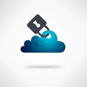 Safe Digital Cloud Concept